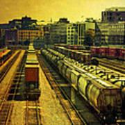 Waterfront Rail Yard Art Print