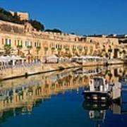 Reflect In Valletta Malta Art Print
