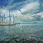 Waterfront View  Art Print