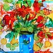 Waterglass Bouquet Art Print