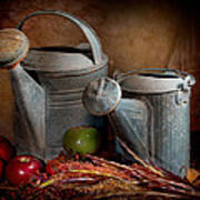 Watering Cans Art Print
