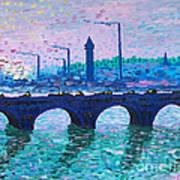 Waterloo Bridge Homage To Monet Art Print by Kevin Croitz