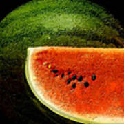 Watermelon Print by David Blank