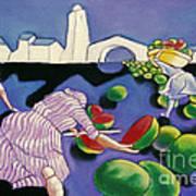 Watermelon Woman Art Print