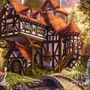 Watermill Art Print