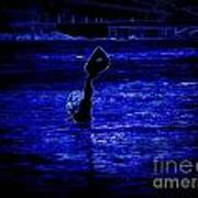 Water's Up In Neon Tweaked Art Print