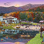 Waterville Estates In Autumn Art Print by Nancy Griswold