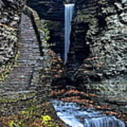 Watkins Glen Central Cascade Art Print