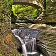Watkins Glen Waterfalls Art Print