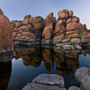 Watson Lake Arizona Reflections Art Print by Dave Dilli