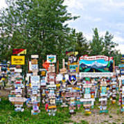 Watson Lake Sign Forest Along Alaska Highway In  Yukon-canada Art Print