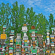 Watson Lake Sign Forest-yt Art Print by Ruth Hager