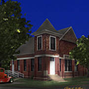 Waurika Presbyterian Church Art Print
