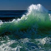 Wave Crashing On Pacific Coast, Oregon Art Print