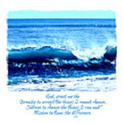 Wave Serenity Prayer Art Print