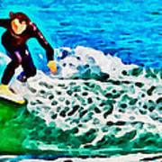 Wave Surfer Art Print