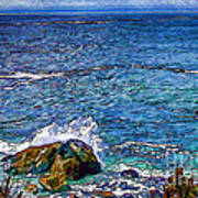 Waves And Splashes Art Print