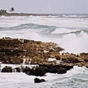 Waves Pounding Costa Maya, Mexico Art Print
