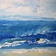 Waves At West Cape May Nj Art Print
