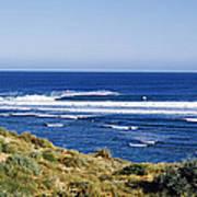 Waves Breaking On The Beach, Western Art Print