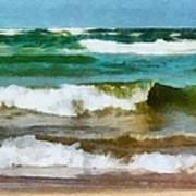 Waves Crash Art Print
