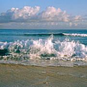 Waves Crashing On The Beach, Varadero Art Print