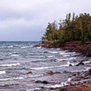 Waves Of Lake Superior Art Print