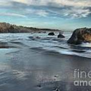 Waves On The Rocks Print by Adam Jewell