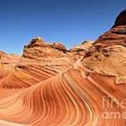 Waves Under Buttes Art Print