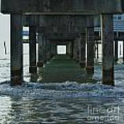 Waves Under The Clearwater Pier 60 Art Print