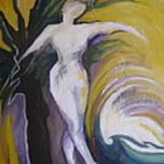 Waving Yellow Art Print