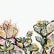 Wavy Flowers Art Print