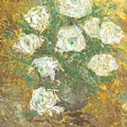 Waxen Roses Art Print