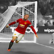 Wayne Rooney Scores Again Art Print