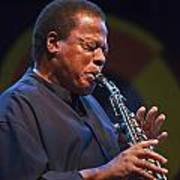 Wayne Shorter Plays Print by Craig Lovell