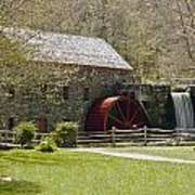 Wayside Grist Mill 6 Art Print by Dennis Coates