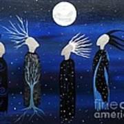 We All See The Same Moon Art Print
