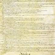 We The People Constitution Page 2 Art Print