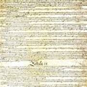 We The People Constitution Page 3 Art Print