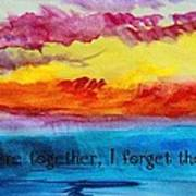 We Were Together I Forget The Rest - Quote By Walt Whitman Art Print