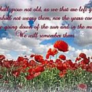 We Will Remember Them... Art Print