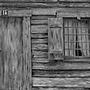 Weathered Door And Window 1 Art Print