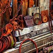 Weathered Rims And Chains Art Print