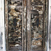 Weathered Wood Door Venice Italy Art Print
