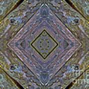 Weathered Wood Tiled IIi Art Print