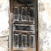Weathered Wooden Gray Door Art Print