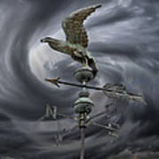Weathervane Art Print by Steven  Michael