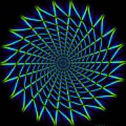 Web Mandala Art Print