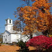 Webster Church On A Fall Day Art Print