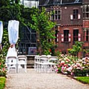 Wedding Arrangement In De Haar Castle. Utrecht  Art Print